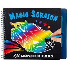 CARNET MAGIC SCRATCH MONSTER CARS-LiloJouets-Morbihan-Bretagne