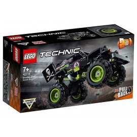 42118 VEHICULE MONSTER JAM GRAVE DIGGER RETROFRICTION LEGO TECHNIC 2EN1