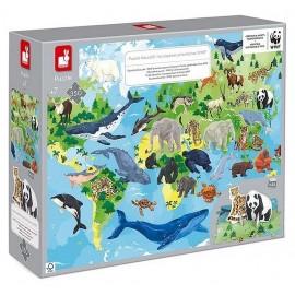 PUZZLE EDUCATIF LES ESPECES PRIORITAIRES WWF 350 PIECES-LiloJouets-Morbihan-Bretagne