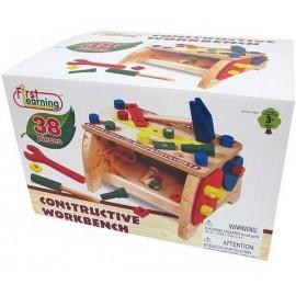 ETABLI BOIS 38 PIECES-jouets-sajou-56