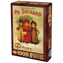 PUZZLE CHOCOLAT SUCHARD 1000 PIECES VINTAGE POSTERS