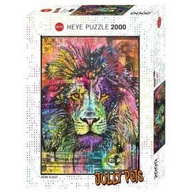 PUZZLE JOLLY PETS LION 2000 PIECES-LiloJouets-Morbihan-Bretagne