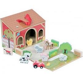 MALETTE FERME BOIS 13 PIECES-jouets-sajou-56