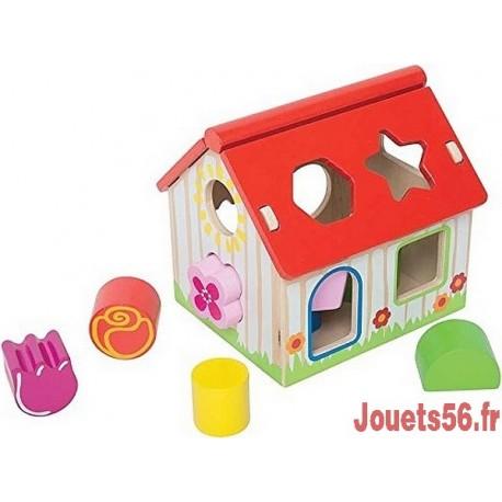 MAISON A FORMES EN BOIS-jouets-sajou-56