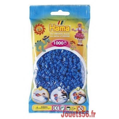 SACHET 1000 PERLES HAMA BLEUES-jouets-sajou-56