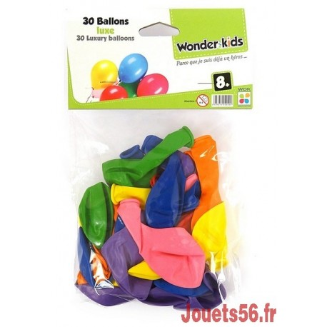 30 BALLONS LUXE ASST-jouets-sajou-56