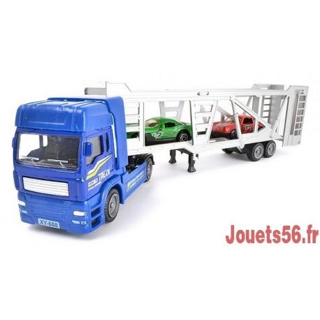 camion transport 2 voitures metal. Black Bedroom Furniture Sets. Home Design Ideas