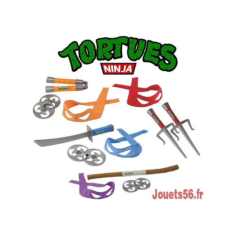 Accessoires de combat tortues ninja - Tortu ninja nom ...
