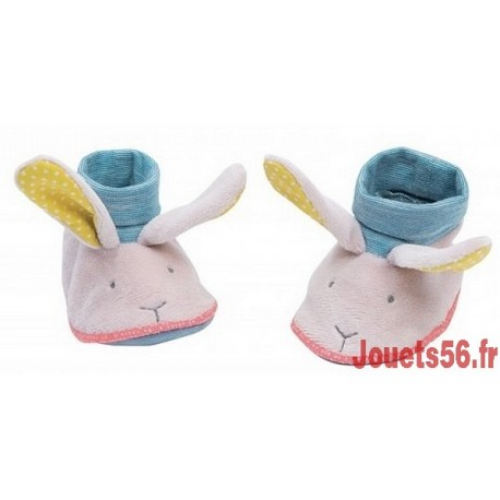 CHAUSSONS LAPIN MADEMOISELLE ET RIBAMBELLE-jouets-sajou-56