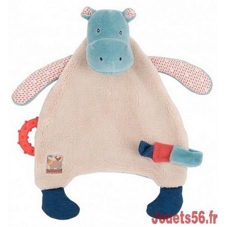 DOUDOU ATTACHE TETINE HIPPOPOTAME LES PAPOUM-jouets-sajou-56