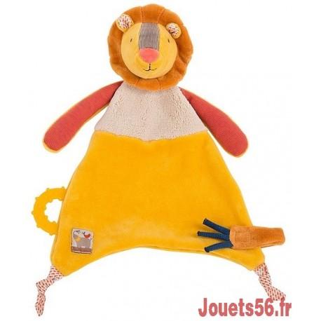 DOUDOU ATTACHE TETINE LION LES PAPOUM-jouets-sajou-56