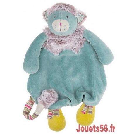 DOUDOU CHAT BLEU LES PACHATS-jouets-sajou-56