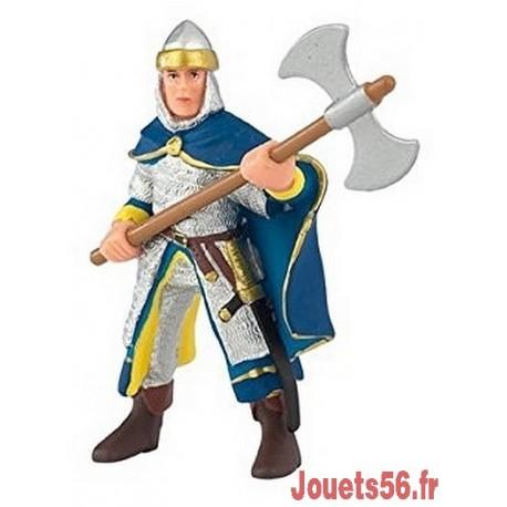 SOLDAT BLEU AVEC CAPE ET HACHE FIGURINE 9CM-jouets-sajou-56