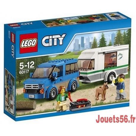 60117 LA CAMIONNETTE ET SA CARAVANE CITY-jouets-sajou-56