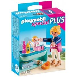 5368 MAMAN AVEC BEBE ET TABLE A LANGER-jouets-sajou-56