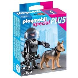 5369 POLICIER DES FORCES SPECIALES AVEC CHIEN-jouets-sajou-56