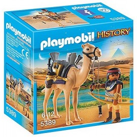 5389 COMBATTANT EGYPTIEN AVEC DROMADAIRE-jouets-sajou-56