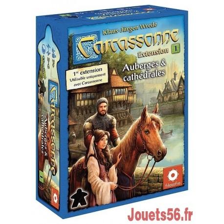 CARCASSONNE EXT.1 AUBERGES ET CATHEDRALES-jouets-sajou-56
