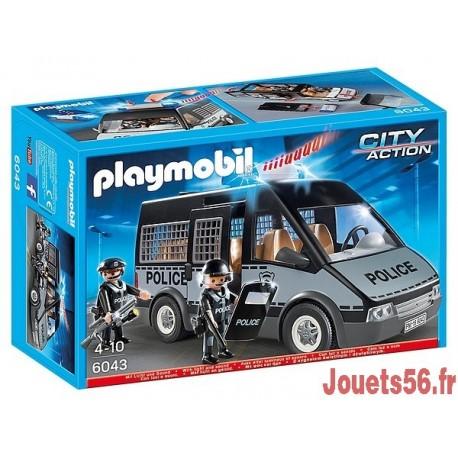 6043 FOURGON DE POLICE AVEC SIRENE ET GYROPHARE-jouets-sajou-56