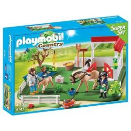 6147 PADDOCK AVEC CHEVAUX SUPERSET-jouets-sajou-56