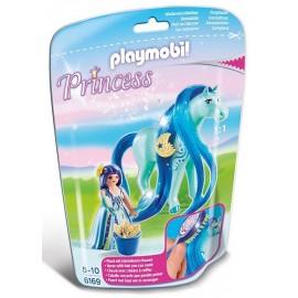 6169 PRINCESSE BLEUET AVEC CHEVAL A COIFFER-jouets-sajou-56