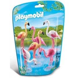 6651 COUPLE DE FLAMANTS ROSES-jouets-sajou-56