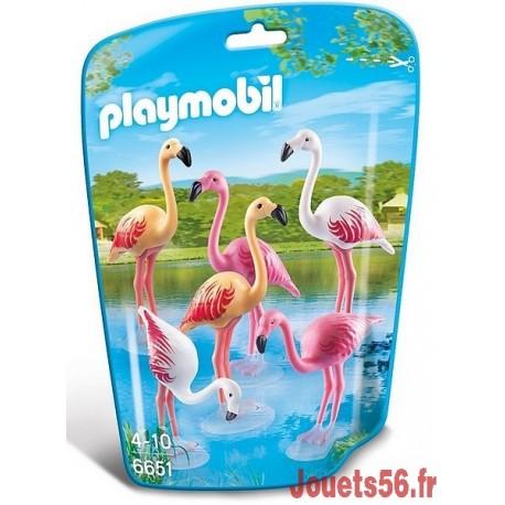 6651 COUPLE DE FLAMANTS ROSES-jouets-sajou-56