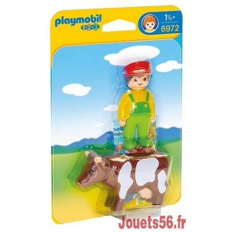 6972 ELEVEUR AVEC VACHE PLAYMOBIL 123 -jouets-sajou-56