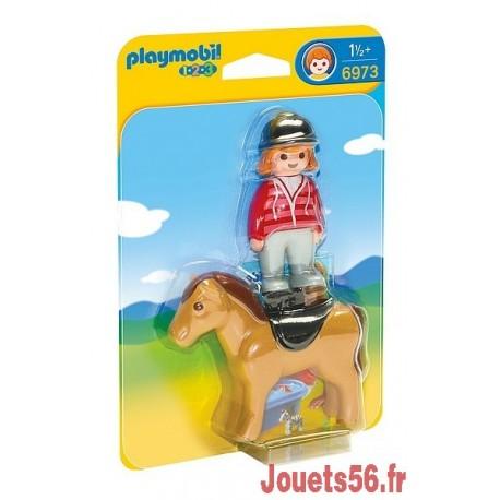 6973 CAVALIERE AVEC CHEVAL PLAYMOBIL 123 -jouets-sajou-56