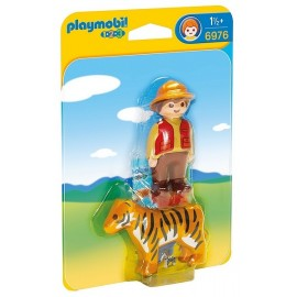 6976 AVENTURIER AVEC TIGRE PLAYMOBIL 123 -jouets-sajou-56