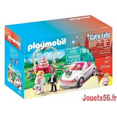 6871 COUPLE DE MARIES AVEC VOITURE STARTER SET-jouets-sajou-56