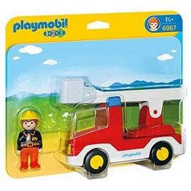 6967 CAMION DE POMPER AVEC ECHELLE PIVOTANTE PLAYMOBIL 123 -jouets-sajou-56