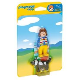 6977 FEMME AVEC CHIEN PLAYMOBIL 123 -jouets-sajou-56