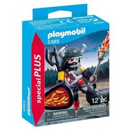5385 GUERRIER AVEC LOUP-jouets-sajou-56