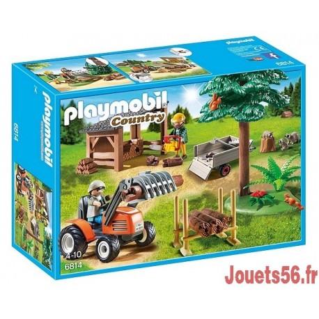 6814 VEHICULE DE DEBARDAGE AVEC BUCHERONS-jouets-sajou-56
