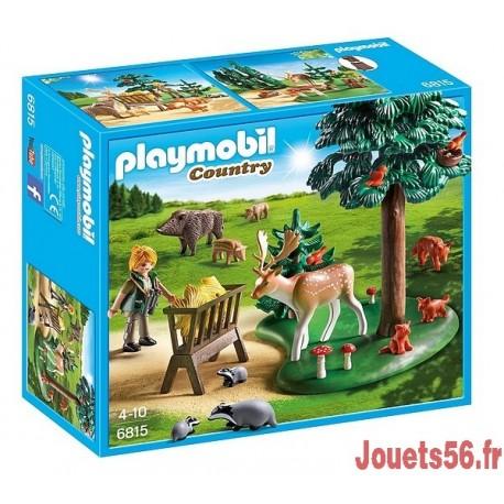 6815 GARDE FORESTIERE AVEC ANIMAUX-jouets-sajou-56