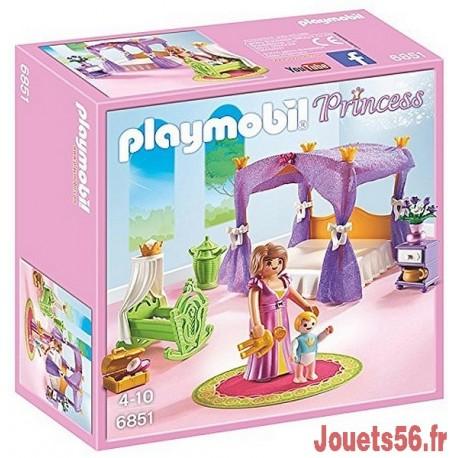 6851 CHAMBRE DE LA REINE AVEC LIT BALDAQUIN-jouets-sajou-56