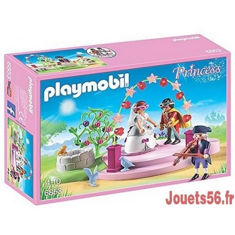 6855 ECURIE AVEC CHEVAL A COIFFER ET PRINCESSE-jouets-sajou-56