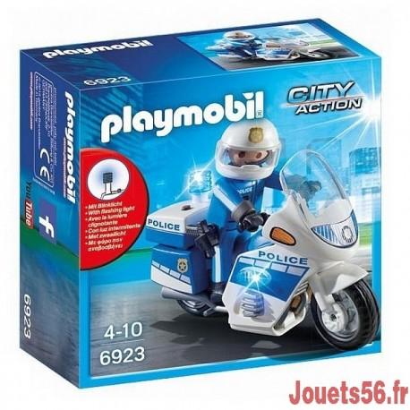 6923 MOTO DE POLICIER AVEC GYROPHARE-jouets-sajou-56