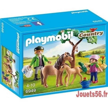 6949 VETERINAIRE AVEC ENFANT ET PONEY-jouets-sajou-56