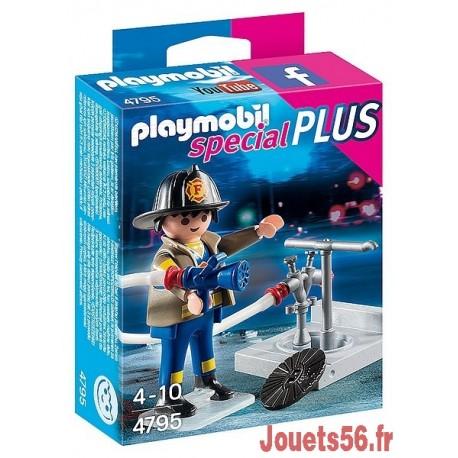 4795-POMPIER AVEC BOUCHE D'INCENDIE-jouets-sajou-56