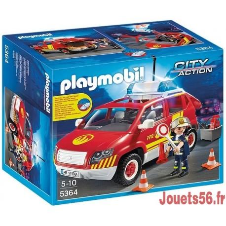5364-VÉHICULE D'INTERVENTION AVEC SIRENE-jouets-sajou-56