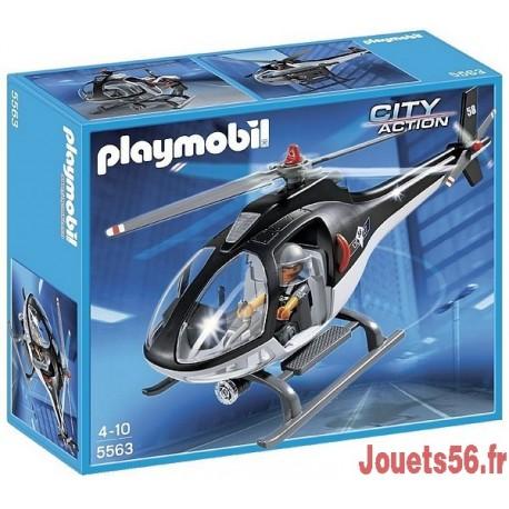 5563-HÉLICOPTÈRE AVEC POLICIER FORCES SPECIALES-jouets-sajou-56