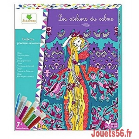 PAILLETTES PRINCESSES DE CONTES LES ATELIERS DU CALME-jouets-sajou-56