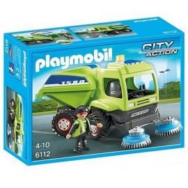 6112-AGENT AVEC BALAYEUSE DE VOIRIE-jouets-sajou-56