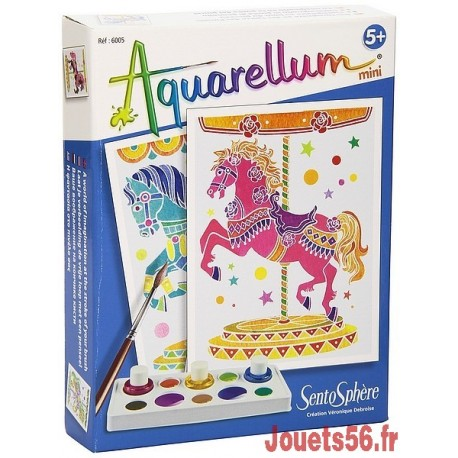 AQUARELLUM MINI CHEVAUX MANEGE-jouets-sajou-56