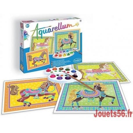 AQUARELLUM CHEVAUX EN PARADE-jouets-sajou-56
