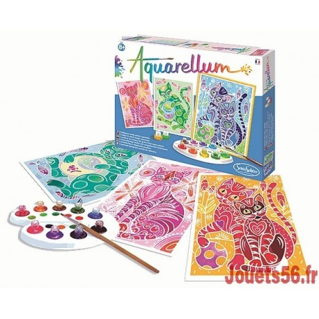 AQUARELLUM CHATS-jouets-sajou-56