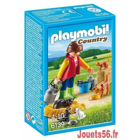 6139 SOIGNEUR AVEC CHATS-jouets-sajou-56