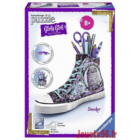 PUZZLE 3D GIRLY GIRL SNEAKER 108 PCES-jouets-sajou-56